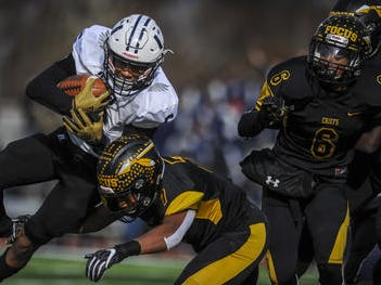 Piscataway's Nasir Best upends Joel Jimenez of Union City during the NJSIAA North 2 Group V final on Saturday, Nov. 17, 2018.