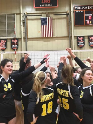 The North Hunterdon girls volleyball team defeated West Morris in the TOC semifinals on Nov. 17, 2018.