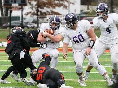 Rumson-Fair Haven at Somerville football during the first half of the NJSIAA Central Group III final on Sunday, Nov. 18, 2018.