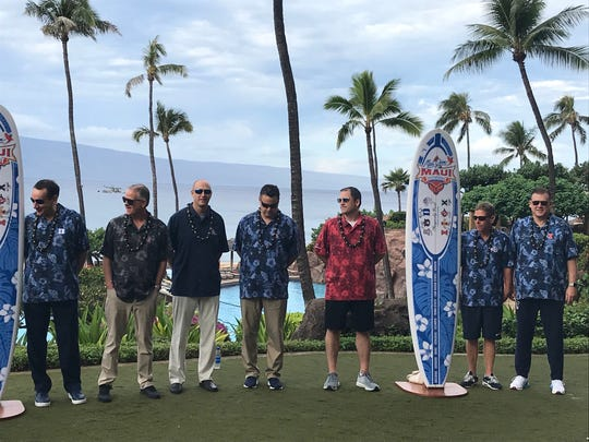 Steve Prohm joins the coaches in the Maui Invitational