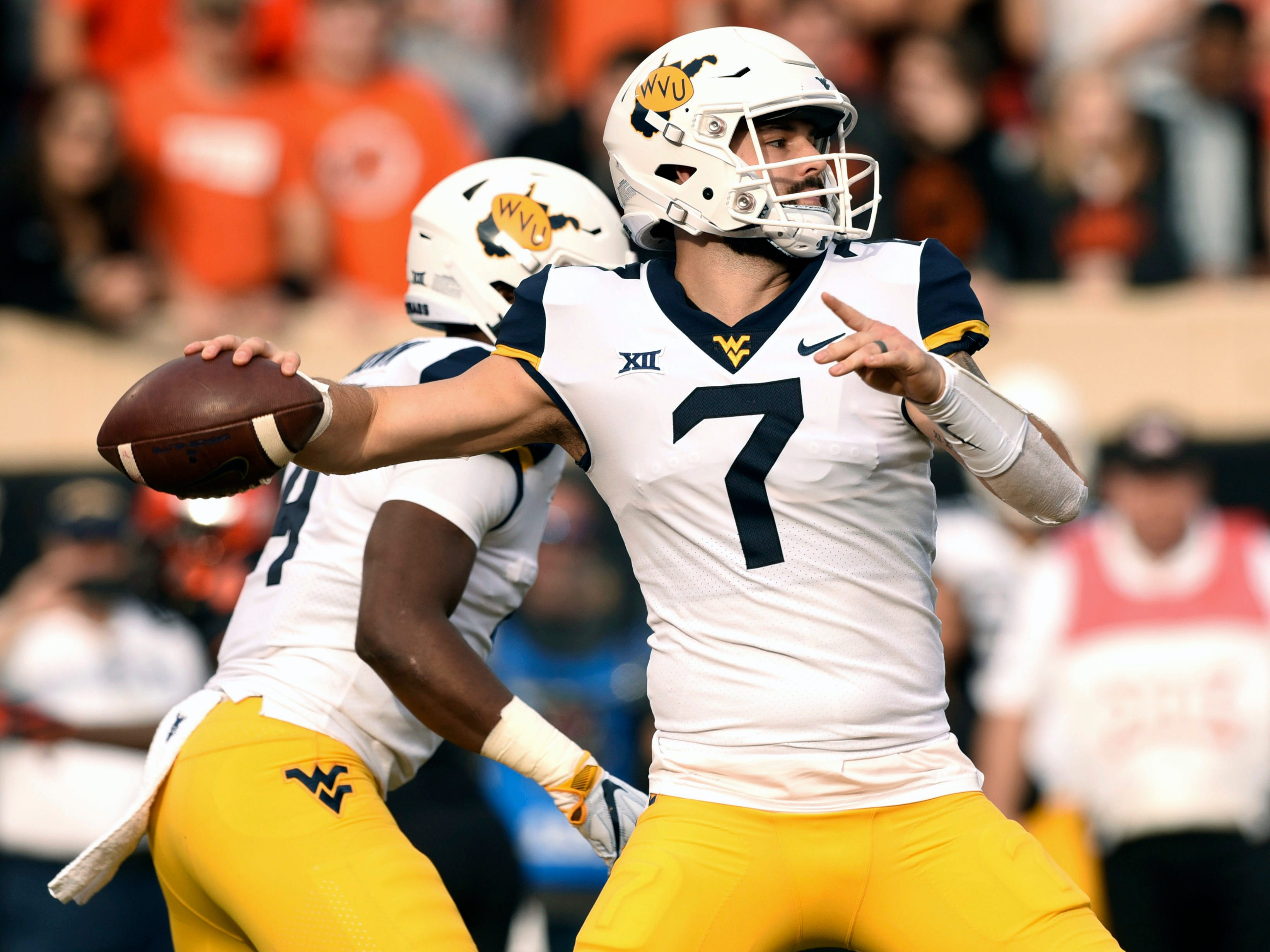 15. West Virginia (8-2) | Last game: Lost to Oklahoma State, 45-41 | Previous ranking: 10