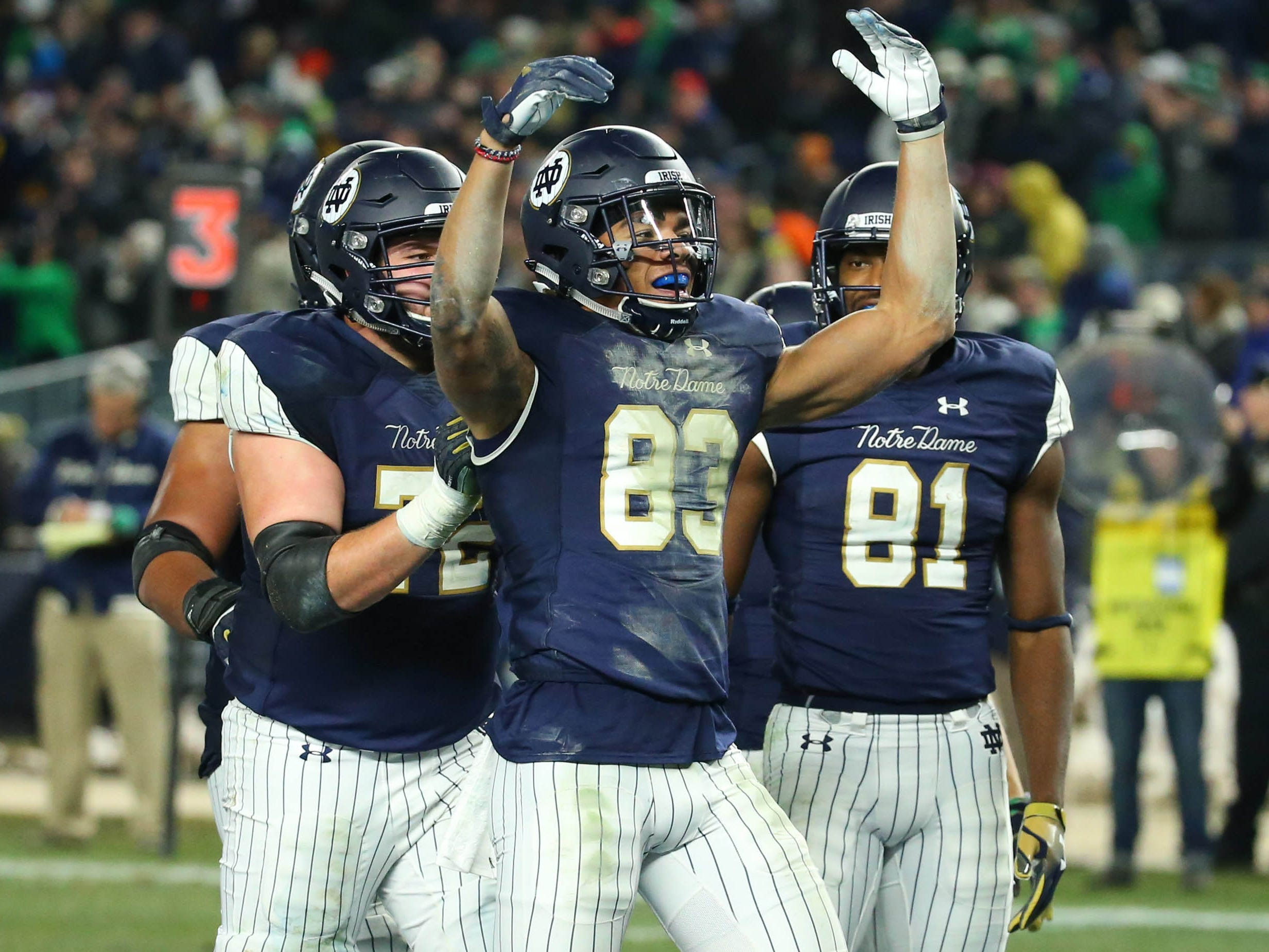 3. Notre Dame (11-0) | Last game: Defeated Syracuse, 36-3 | Previous ranking: 3