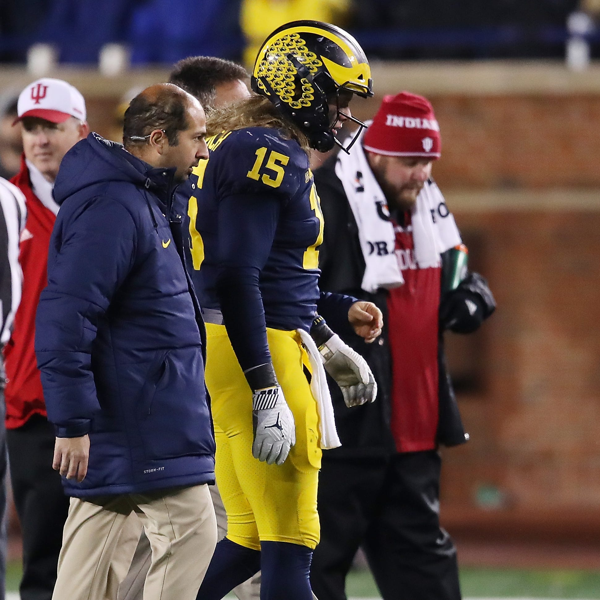 Michigan football players hopeful Chase Winovich plays at Ohio State