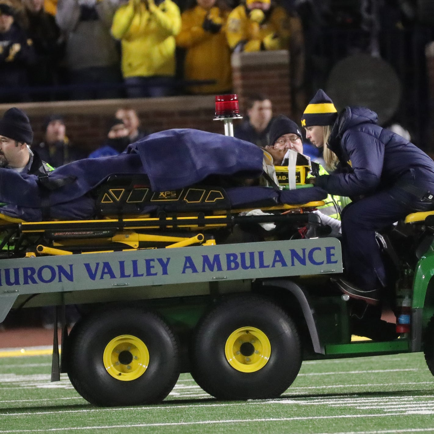 Michigan's Berkley Edwards has concussion, but responding well