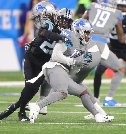 ... a catch against Panthers cornerback Donte Jackson during the first half  Nov. 18 bba620de515