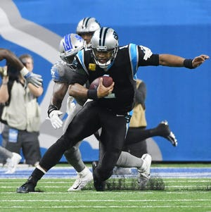 Panthers Cam Newton will be out this Sunday against the Falcons.