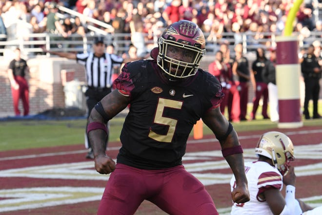 Dontavius Jackson led Florida State with 14 total tackles and sack in the win over Boston College.