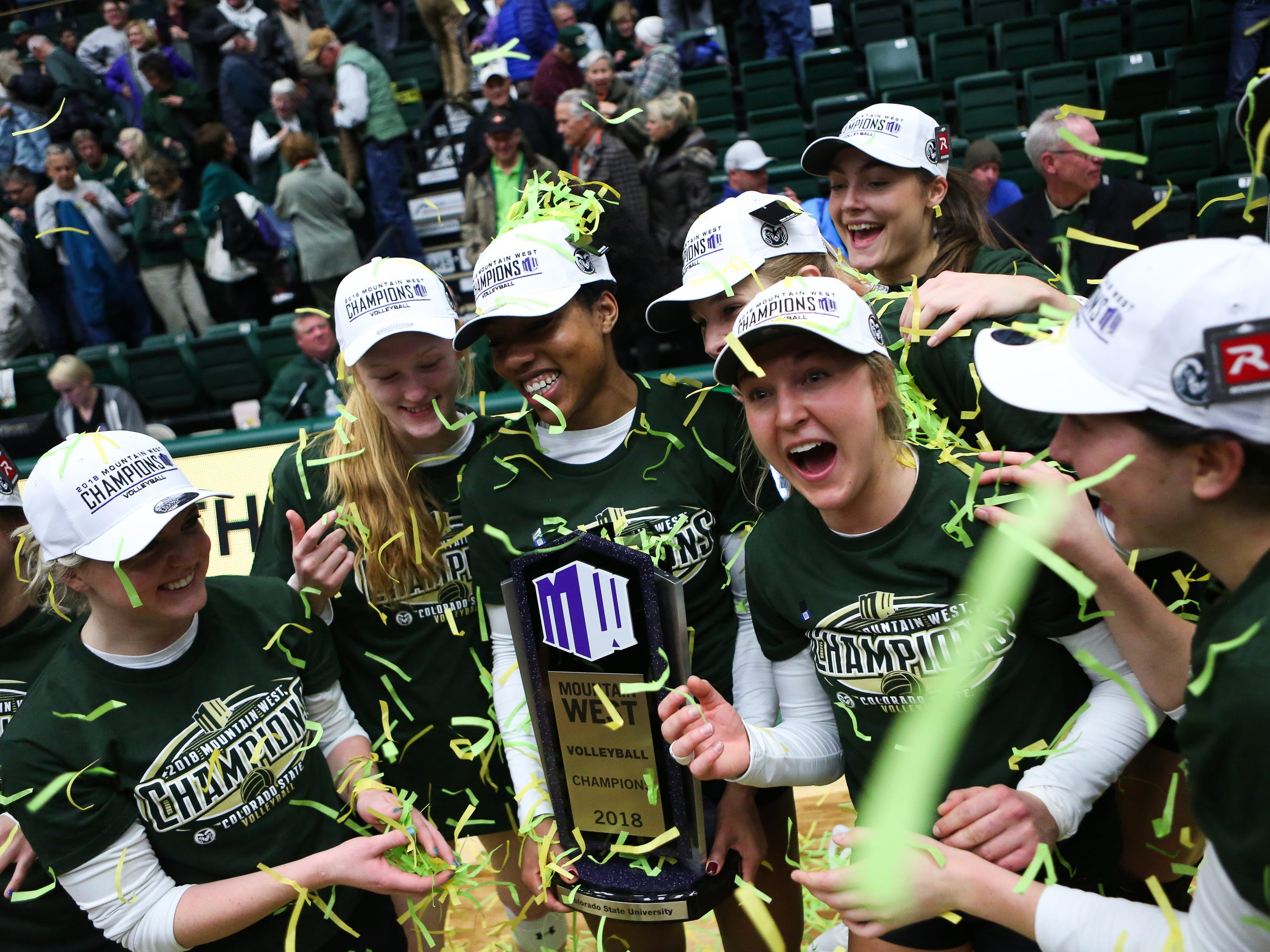 CSU volleyball celebrates its 9th Mountain West championship in 10 years