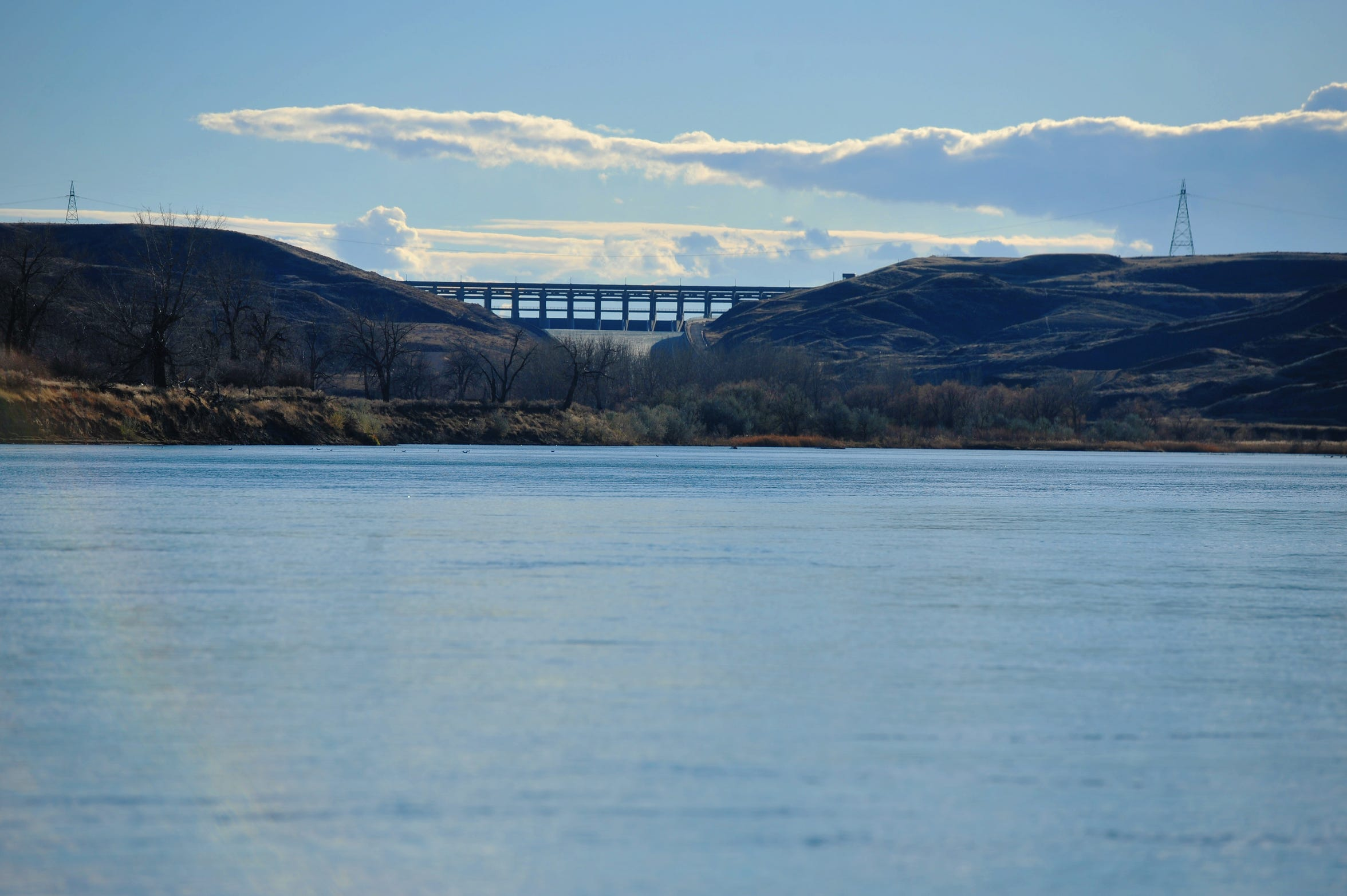 The Keystone XL Pipeline will cross the Missouri River downstream of the Fort Peck Dam spillway near the confluence of the Missouri and Milk rivers in Vallley County, Mont.  This photo was taken from the north shore of the Missouri River on property owned by the Page family, who has granted an easement for the project.