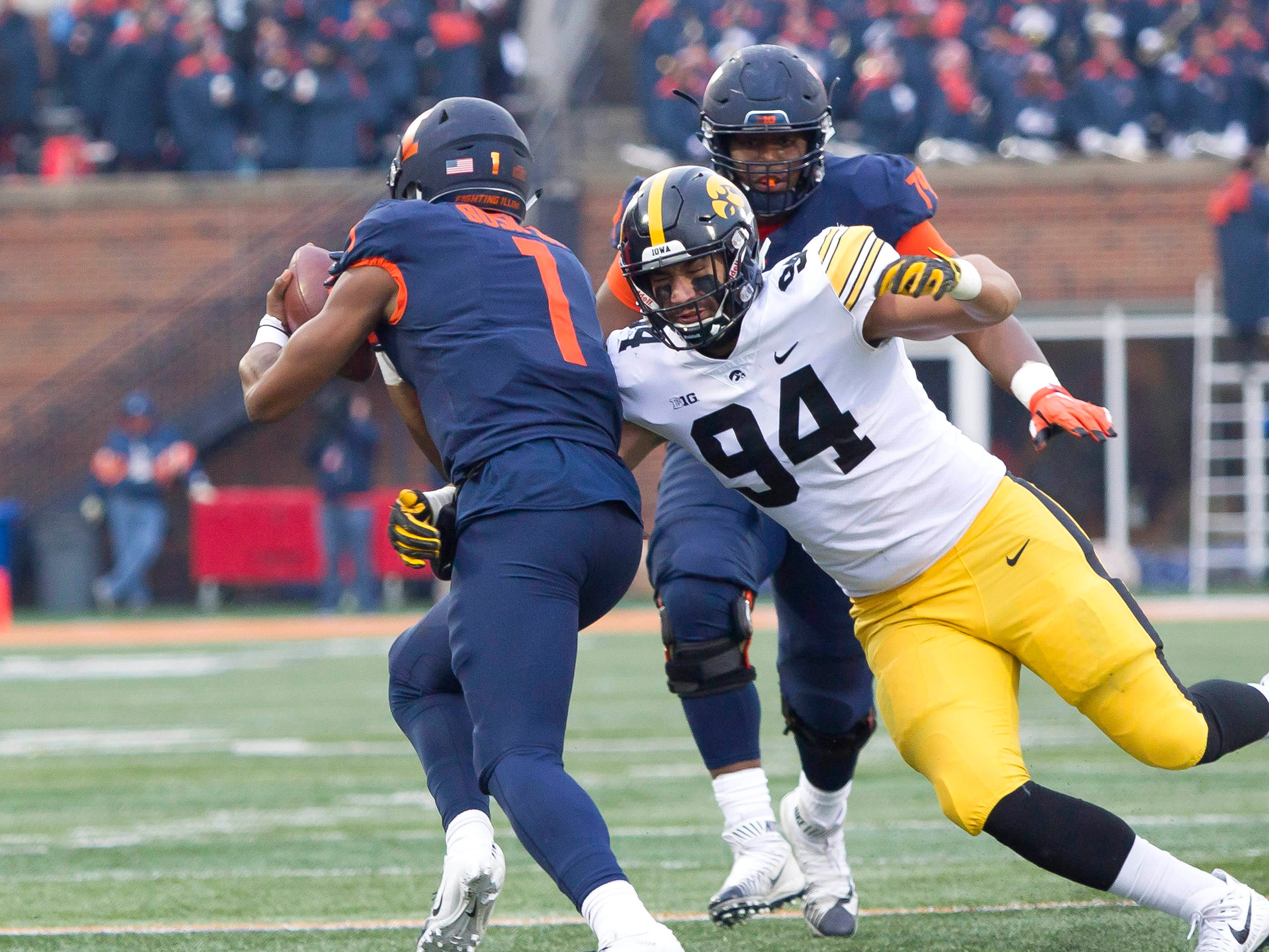 Stats file: Details on projected football starters for Iowa against Nebraska