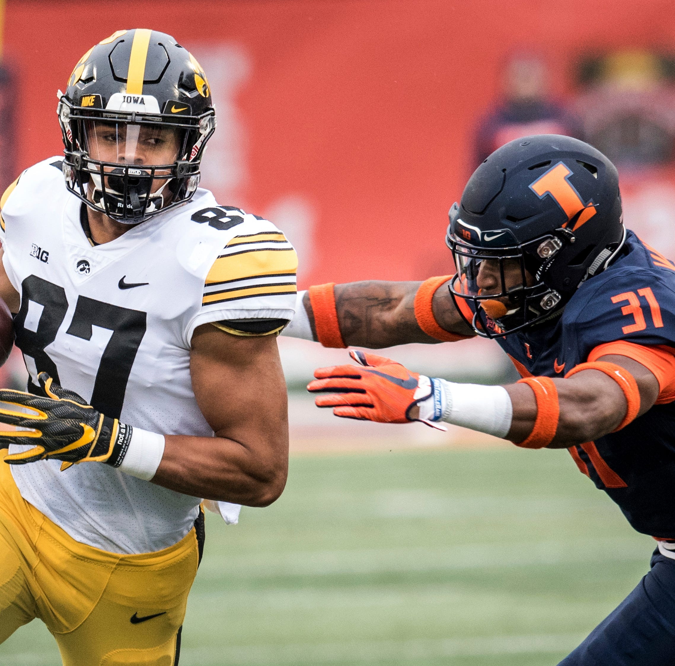 NFL mock draft: How could trades impact former Iowa TEs T.J. Hockenson, Noah Fant?