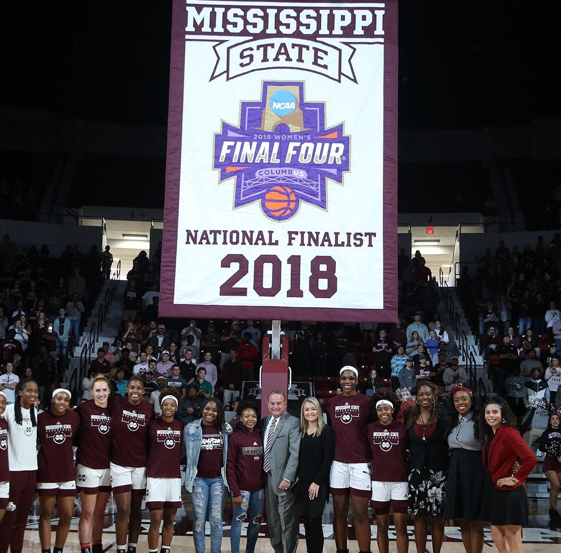 Mississippi State women's basketball raises Final Four banner before beating Coppin State