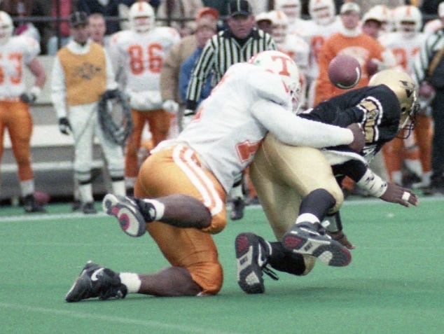 The Commodores fumbled the ball twice and the Vols managed to recover one on on November 28, 1992.