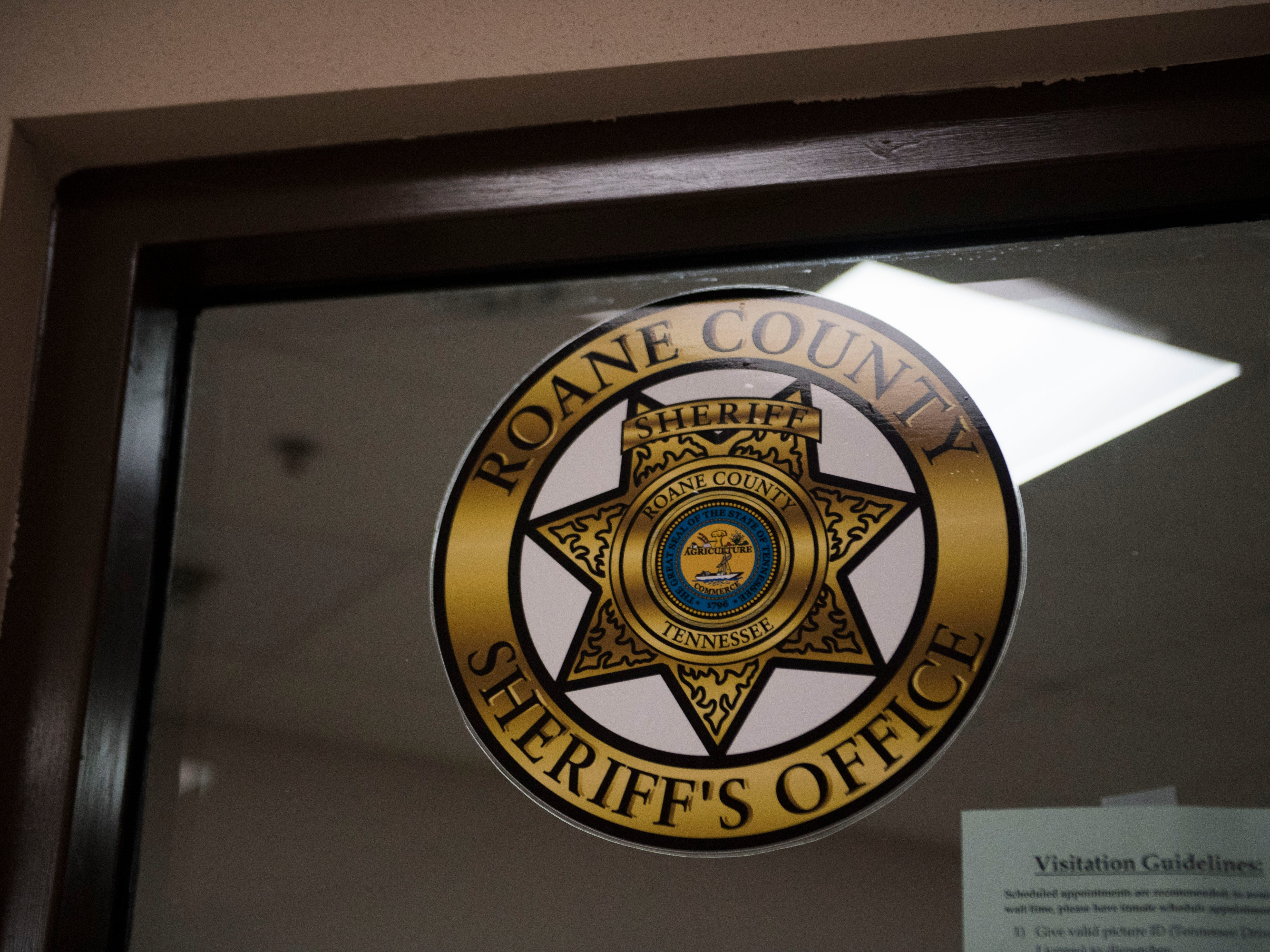 A decal marks the Roane County Sheriff's Office and Detention Center Wednesday, May 30, 2018.