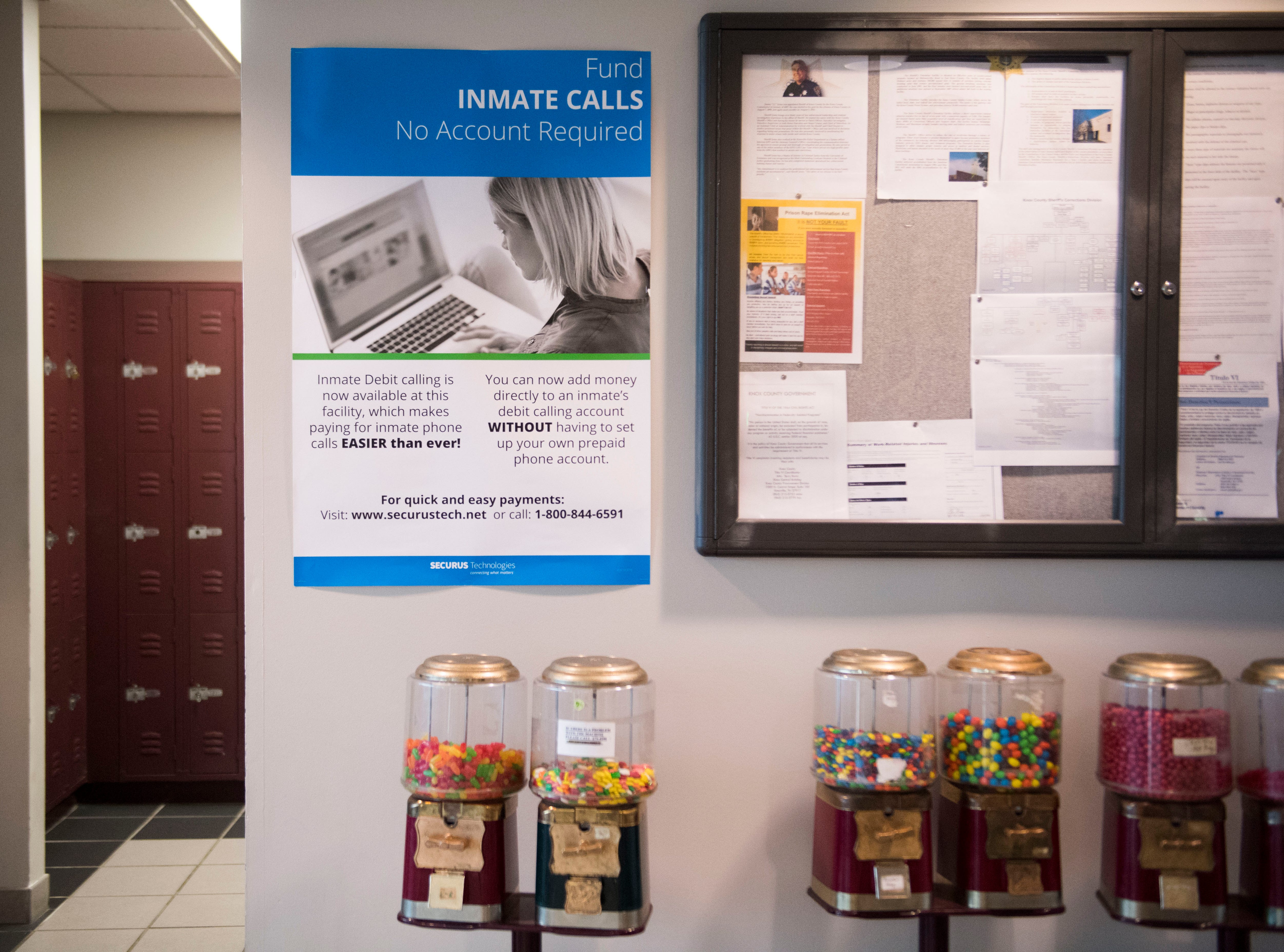 A sign referencing video visitation hangs at the Knox County Jail in Knox County Tuesday, May 15, 2018.