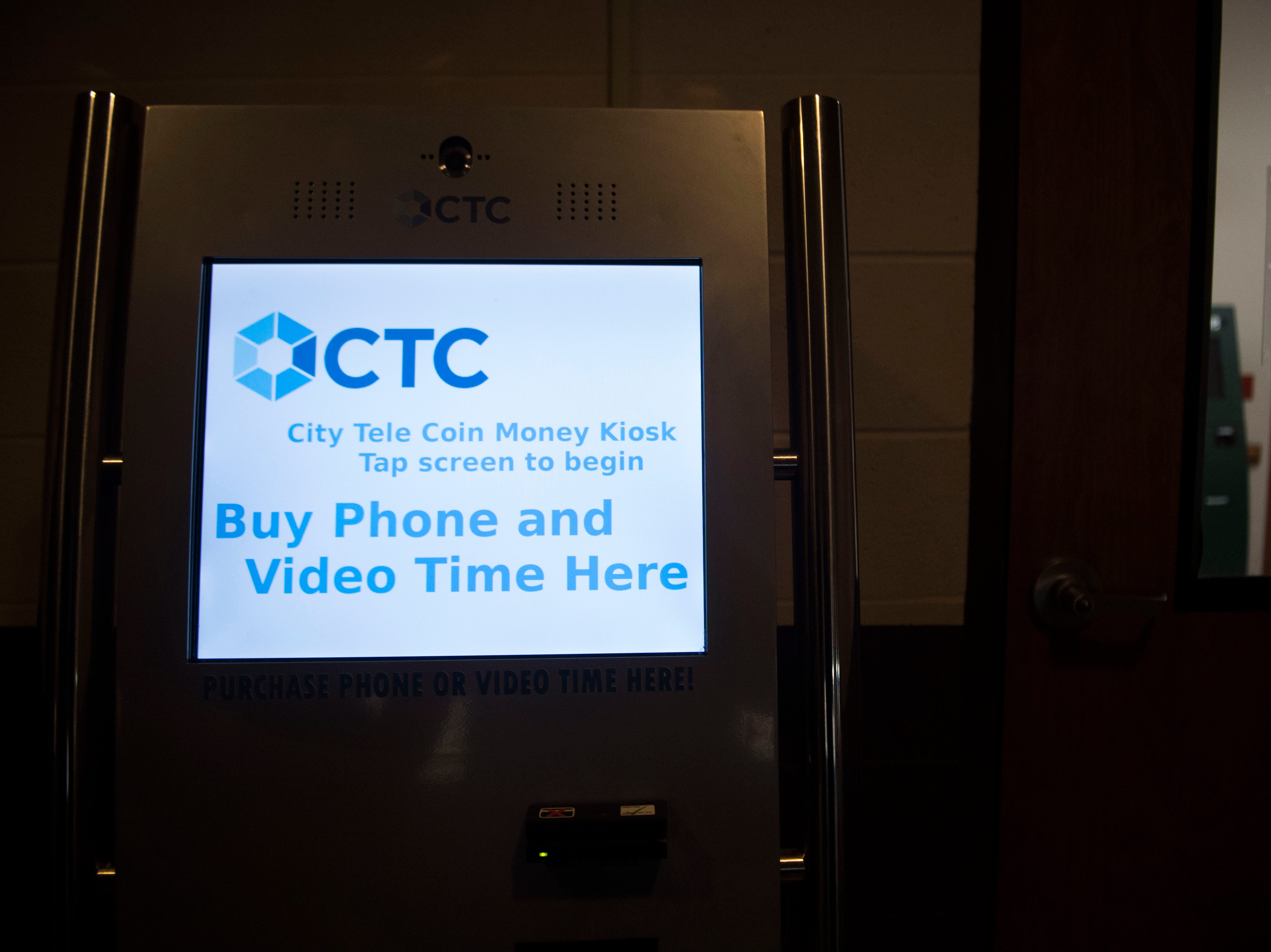 A kiosk to buy video visitation time stands at the Roane County Sheriff's Office and Detention Center Wednesday, May 30, 2018.