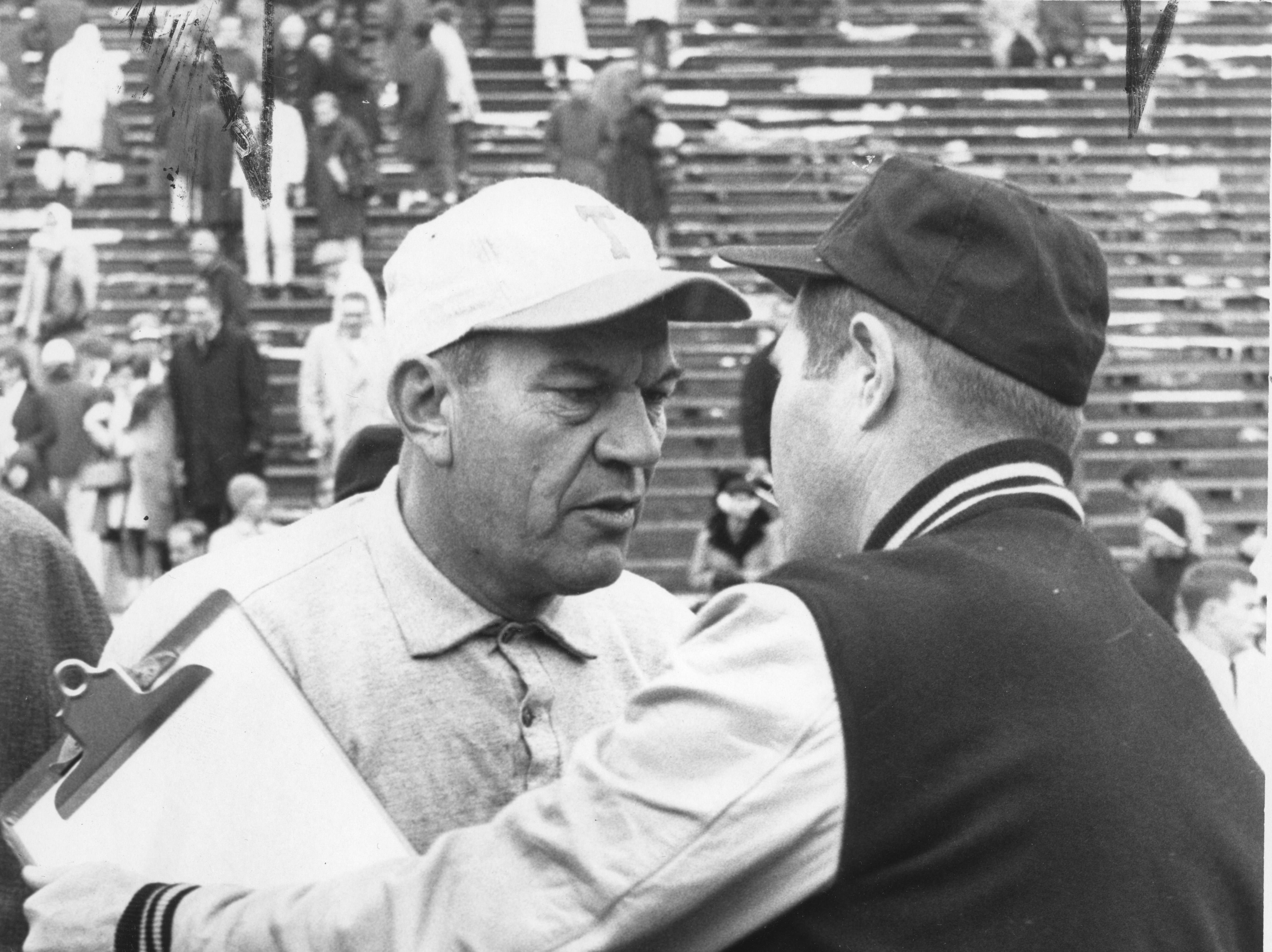 Jim McDonald, Tennessee Head Coach, after a game against Vanderbilt in 1963.