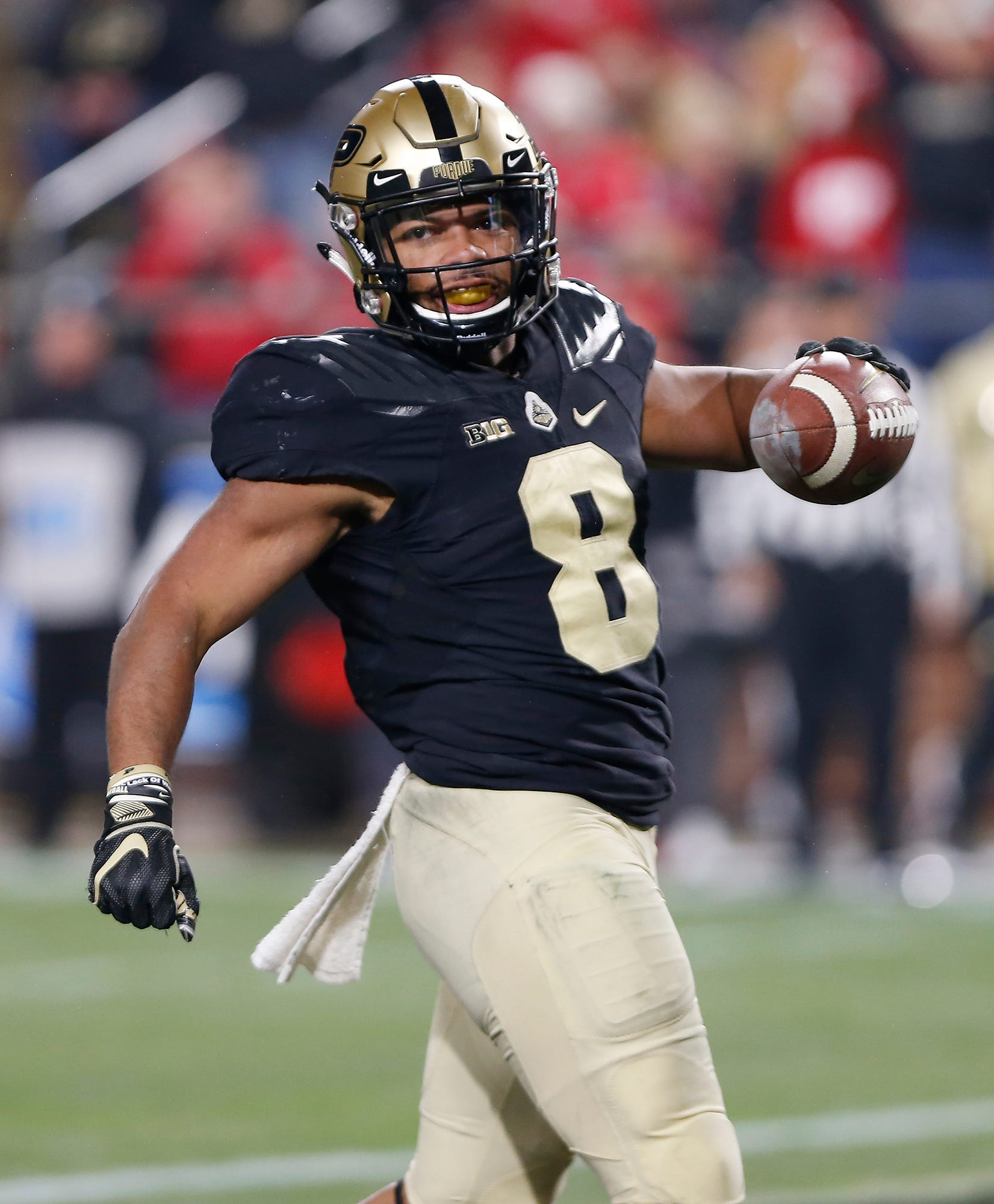 Purdue running back Markell Jones struts into the end zone with 4:08 to play in the third quarter.