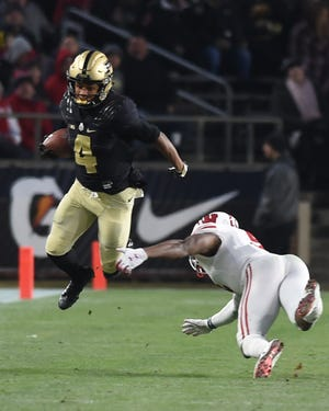 Scenes from senior day at Ross-Ade Stadiuim as the Boilers drop a heart breaker to Wisconsin in three OTs. Rondale Moore