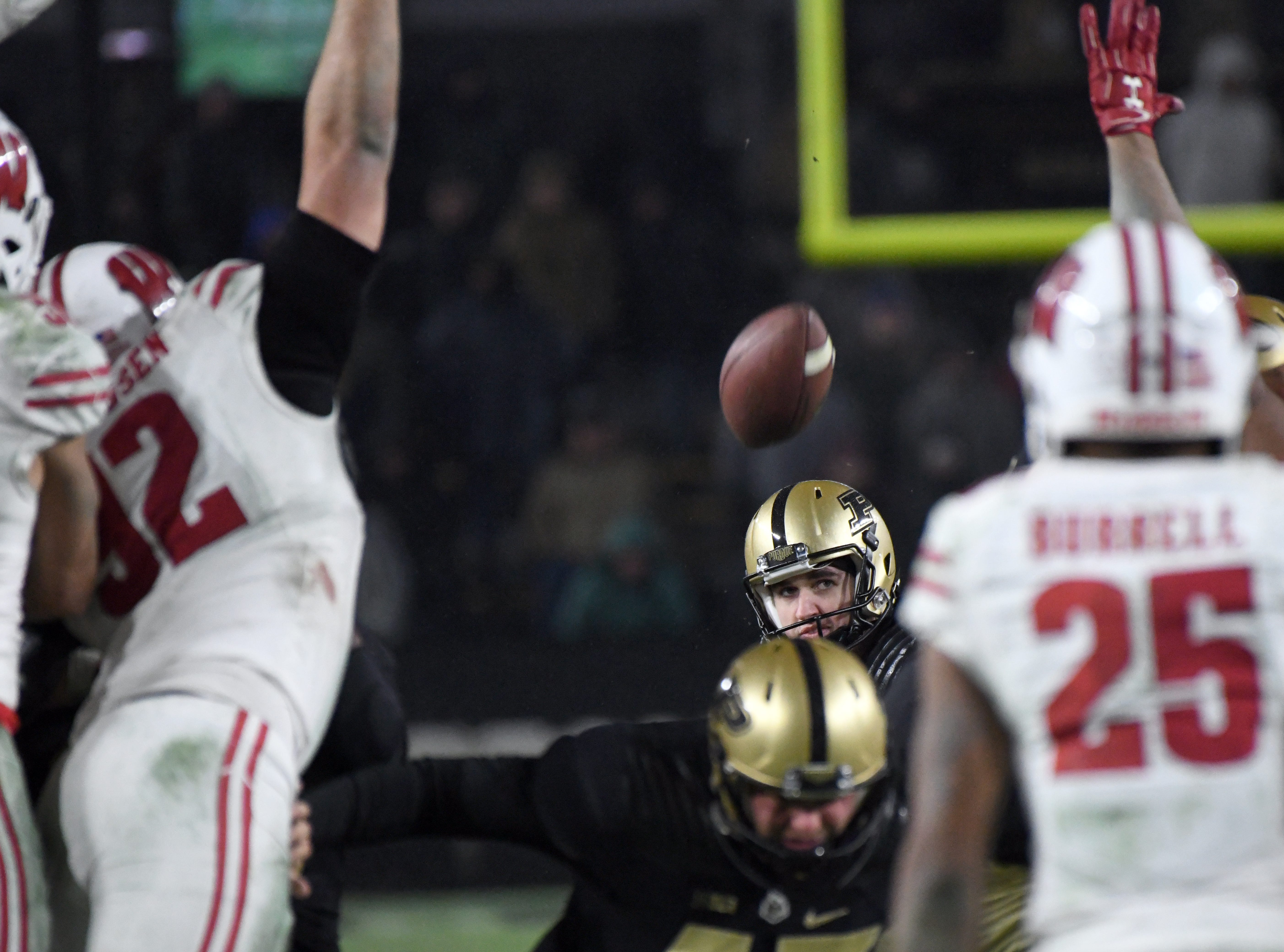 Purdue goes down to defeat on senior day in triple overtime to Wisconsin 47-44 in West Lafayette on Saturday November 17, 2018.