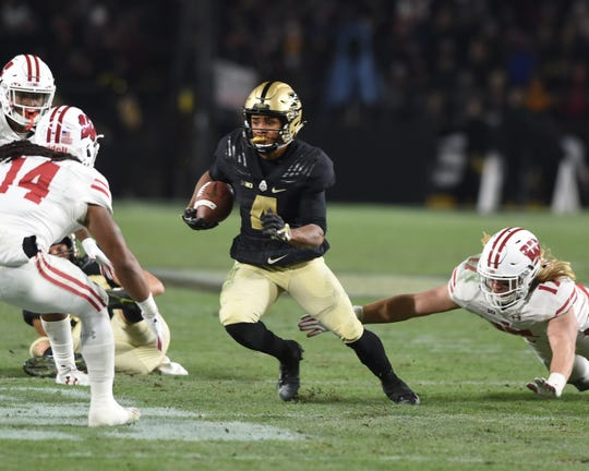 Scenes from senior day at Ross-Ade Stadiuim as the Boilers drop a heart breaker to Wisconsin in three OTs. Rondale Moore.
