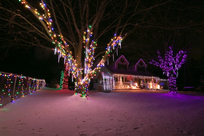3654 Westphal in Genoa Township, the home of Michael and Dawn Williams, shown Tuesday, Dec. 12, 2017, from last year's Christmas Light Tour.
