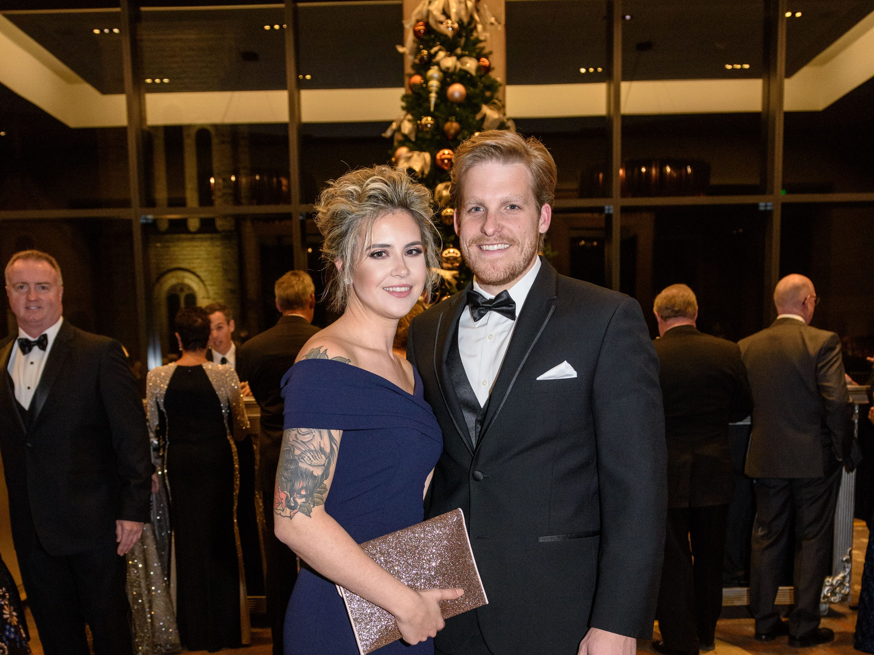 Devon and Tyler Yeoman at the Snow Ball Gala at the Omni Hotel, a benefit for the Jennifer Lawrence Cardiac Intensive Care Unit (CICU) at Norton ChildrenÕs Hospital. Nov. 17, 2018