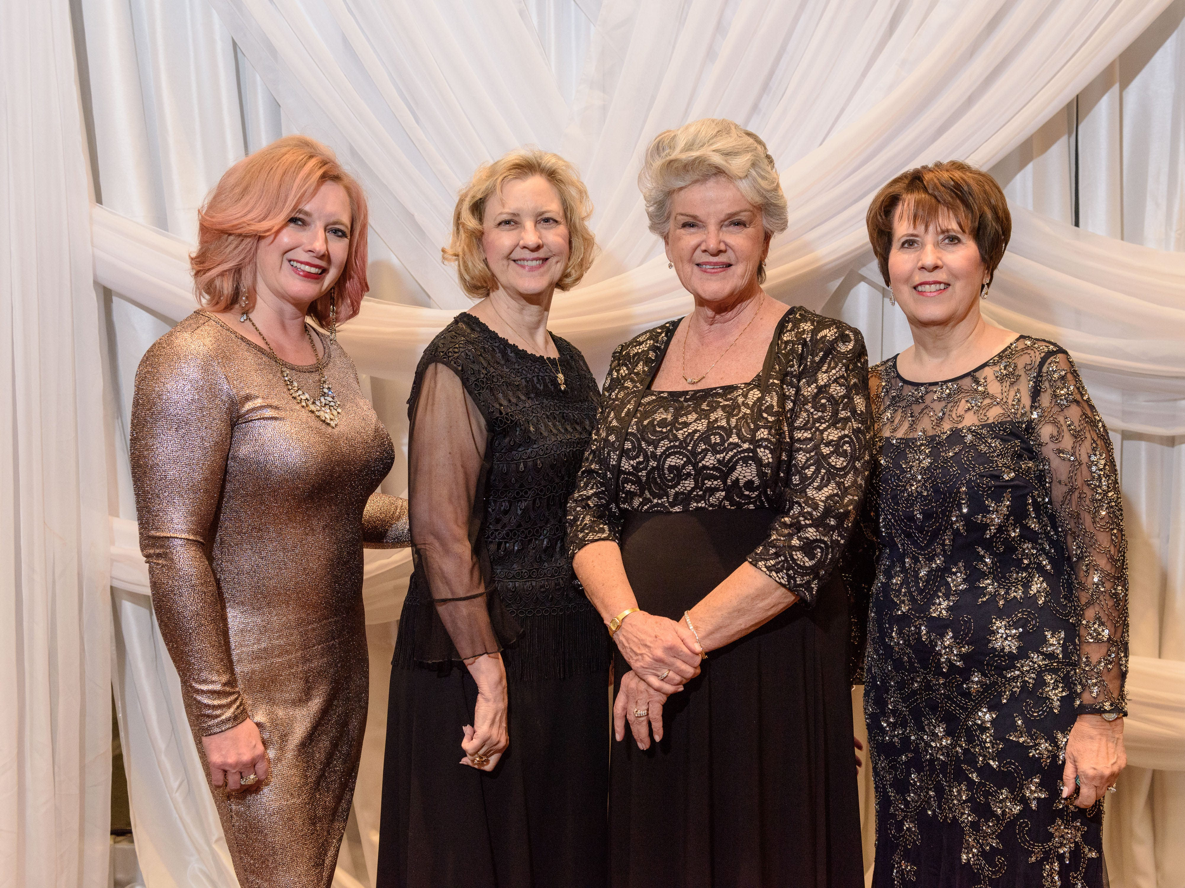 Alicia Joos, Trudy Ross, Karen Miller and Margie McClamroch at the Snow Ball Gala at the Omni Hotel, a benefit for the Jennifer Lawrence Cardiac Intensive Care Unit (CICU) at Norton ChildrenÕs Hospital. Nov. 17, 2018