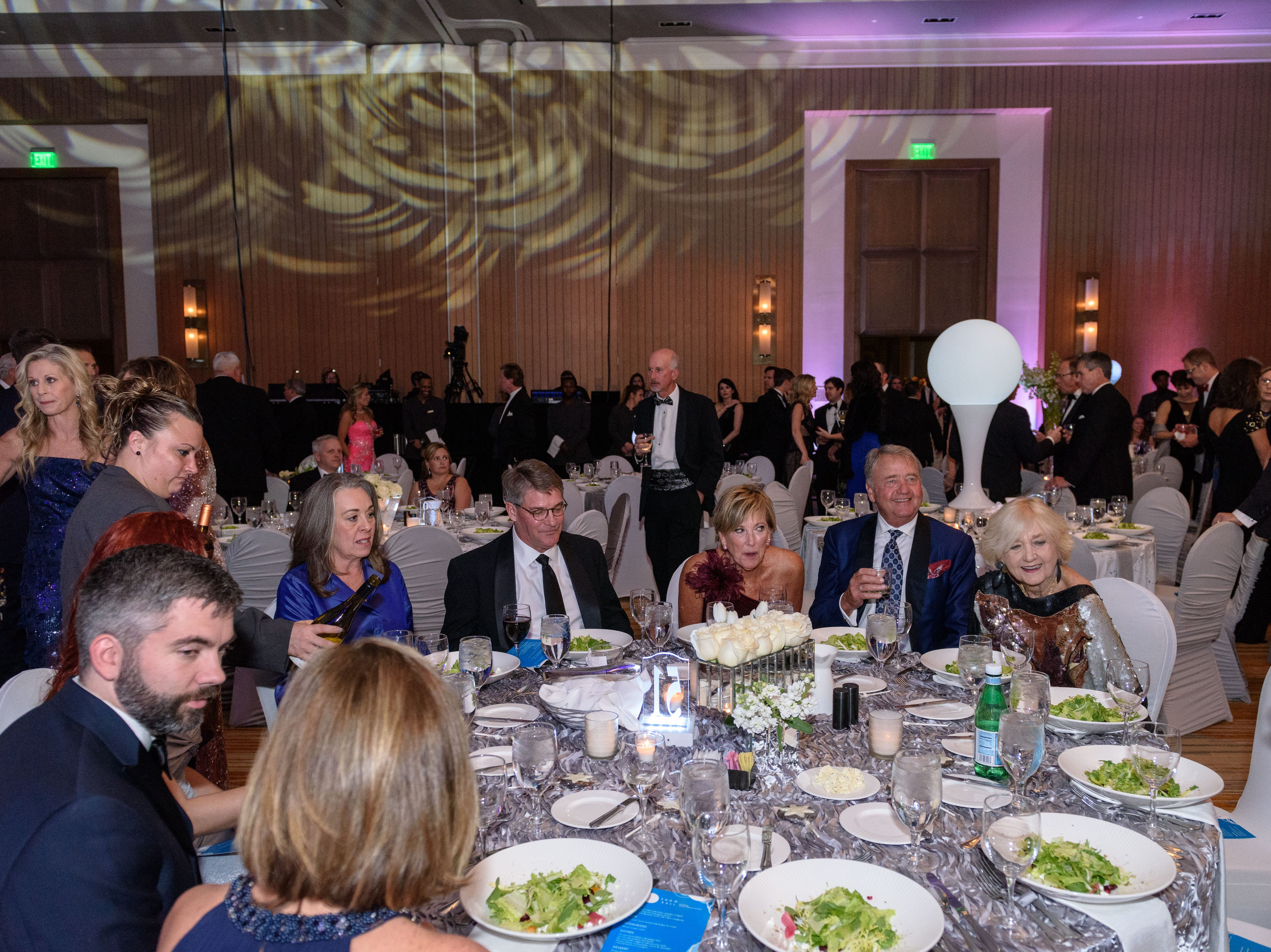 Karen and Gary Lawrence take their seats at the Snow Ball Gala at the Omni Hotel, a benefit for the Jennifer Lawrence Cardiac Intensive Care Unit (CICU) at Norton ChildrenÕs Hospital. Nov. 17, 2018