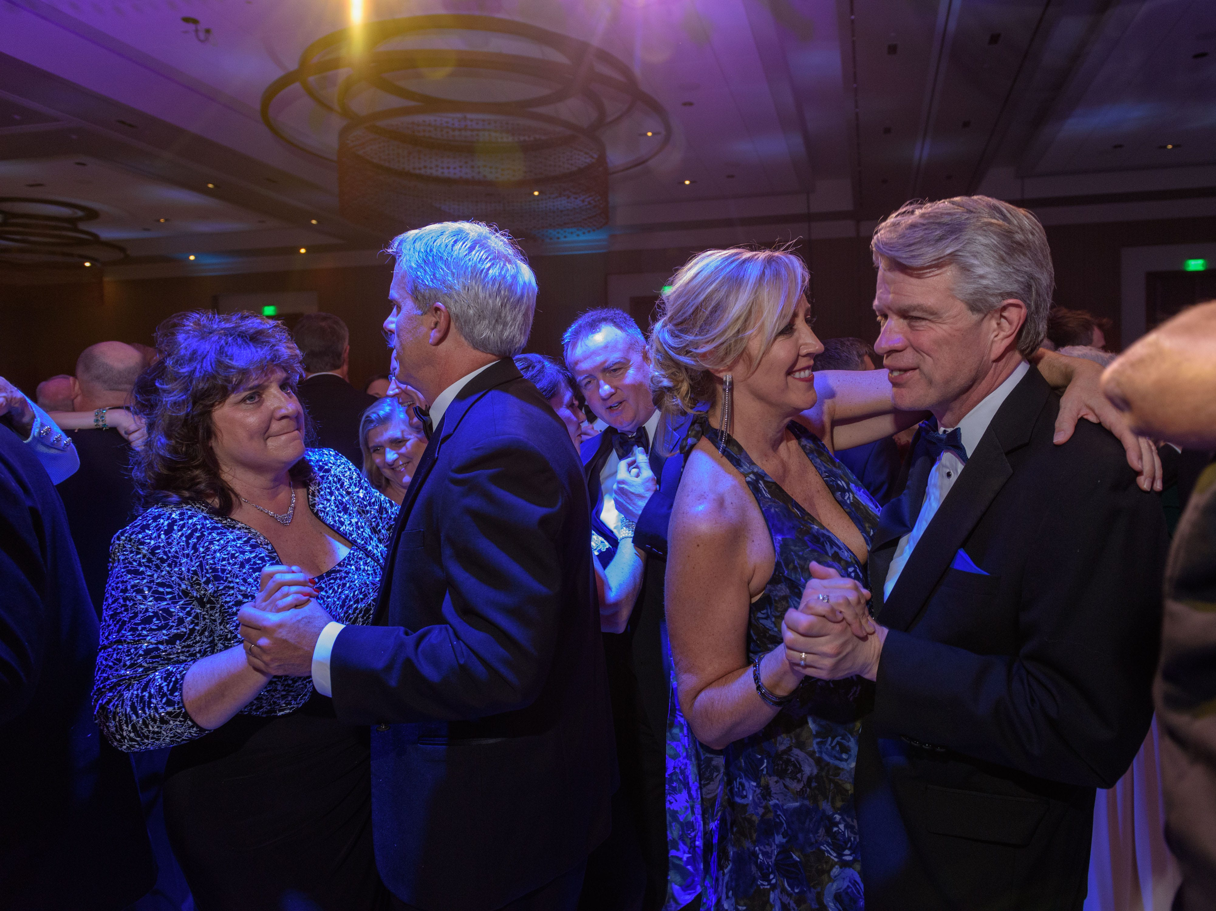 Guests dance at the Snow Ball Gala at the Omni Hotel, a benefit for the Jennifer Lawrence Cardiac Intensive Care Unit (CICU) at Norton ChildrenÕs Hospital. Nov. 17, 2018