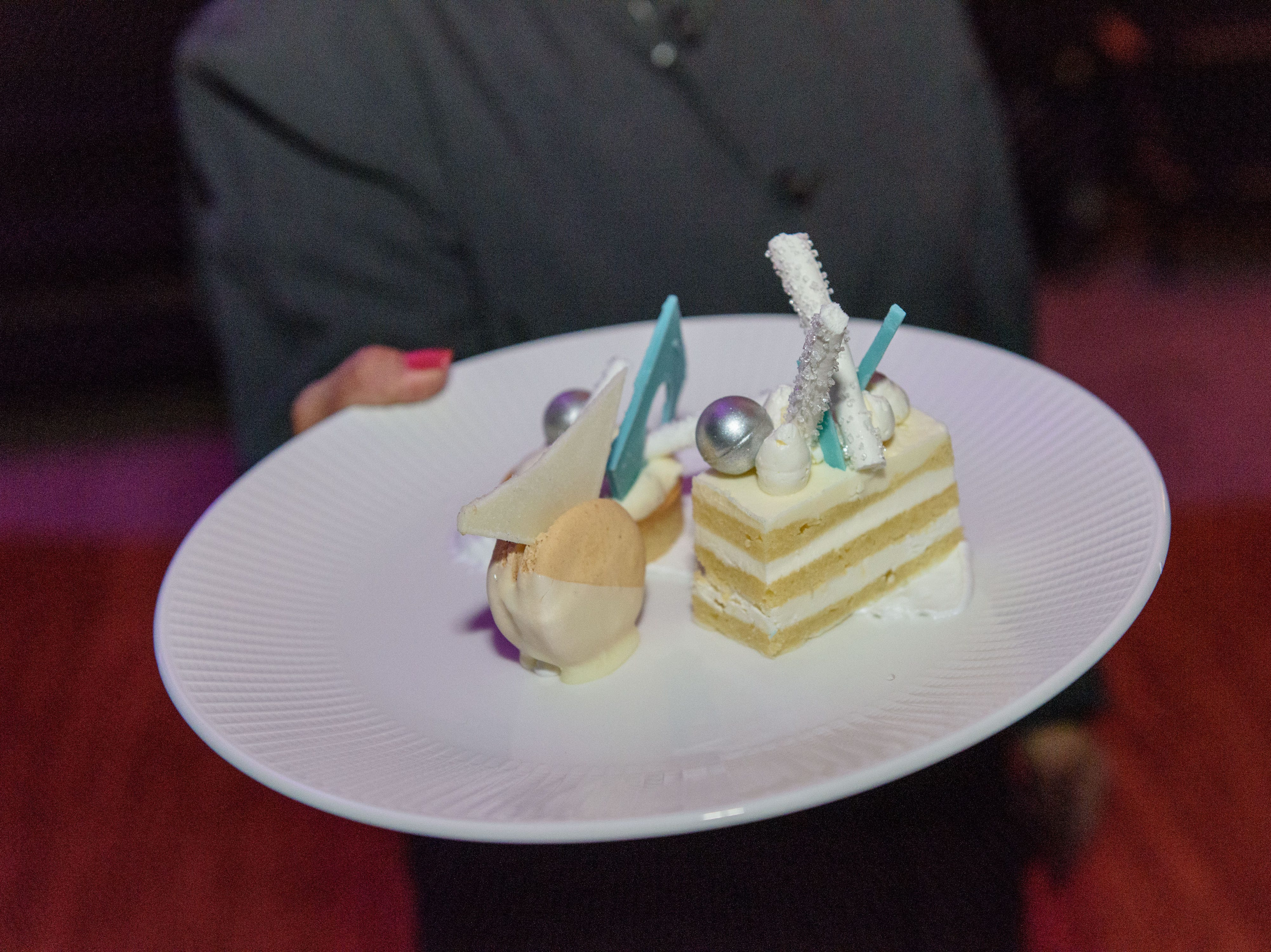 The special winter wonderland-themed dessert served after the raffle at the Snow Ball Gala at the Omni Hotel, a benefit for the Jennifer Lawrence Cardiac Intensive Care Unit (CICU) at Norton ChildrenÕs Hospital. Nov. 17, 2018