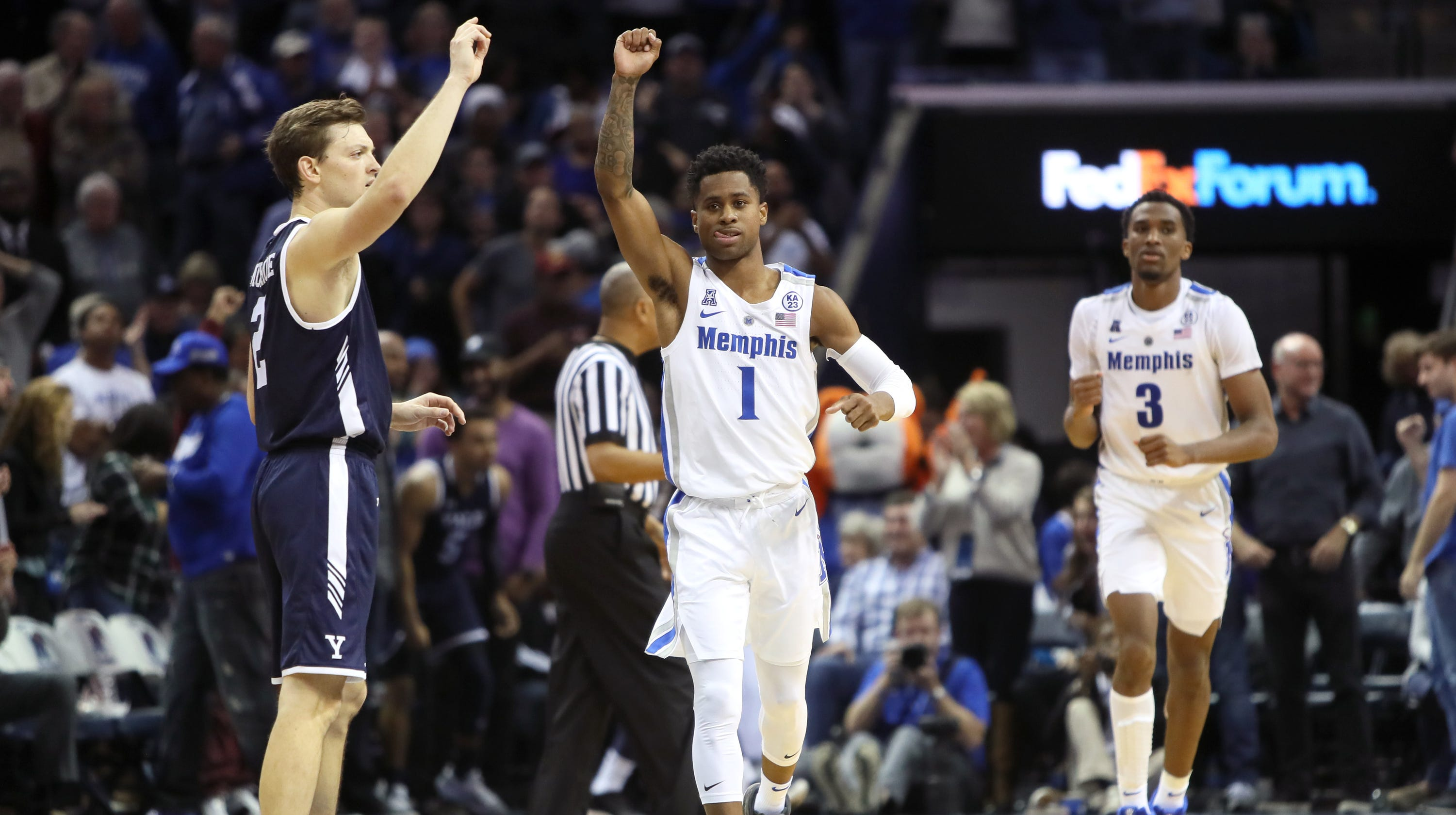 memphis, tyler harris has prayer answered in thrilling win over yale