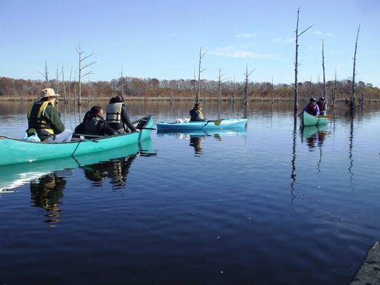 A guided canoe and kayak trip is Saturday