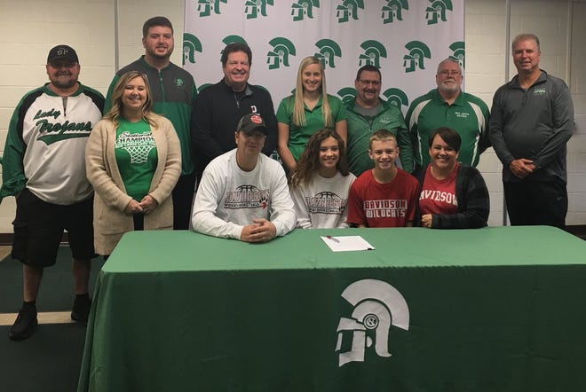 New Castle's Cameron Tabor signs her letter of intent to attend Davidson.