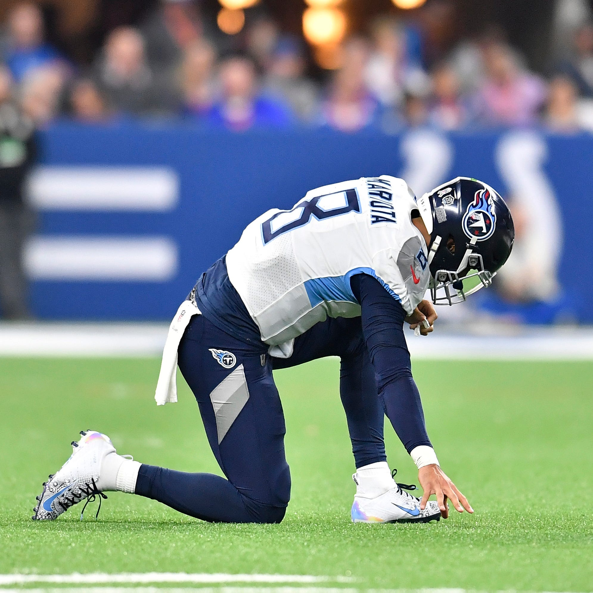 Titans' Marcus Mariota suffered stinger in loss to Colts; status uncertain for Texans