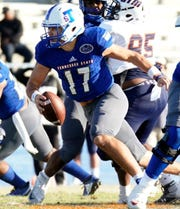 Quarterback Cameron Rosendahl led Tennessee State to an overtime win over UT-Martin Saturday in his first start.