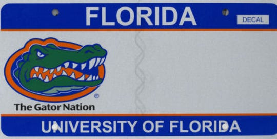 The University of Florida plate can be found on 1,211 Collier vehicles, making it the most popular university or college plate in the county, but only the 10th favorite overall among Collier drivers.