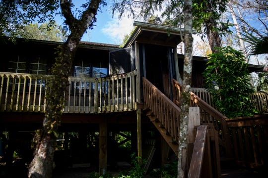 Bob Gore's house, which Cypress Cove Conservancy is raising money to buy, is open to visitors during the soft opening of the Naithloriendun Sanctuary, also known as the Gore sanctuary, on Sunday, November 18, 2018, in Golden Gate Estates.