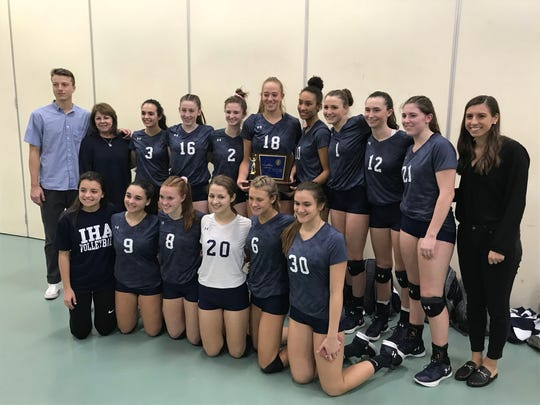 The Immaculate Heart Academy volleyball team repeated as NJSIAA Tournament of Champions winner by defeating North Hunterdon, 25-20, 25-21, on Sunday, Nov. 18, 2018 at the William Paterson University Rec Center.