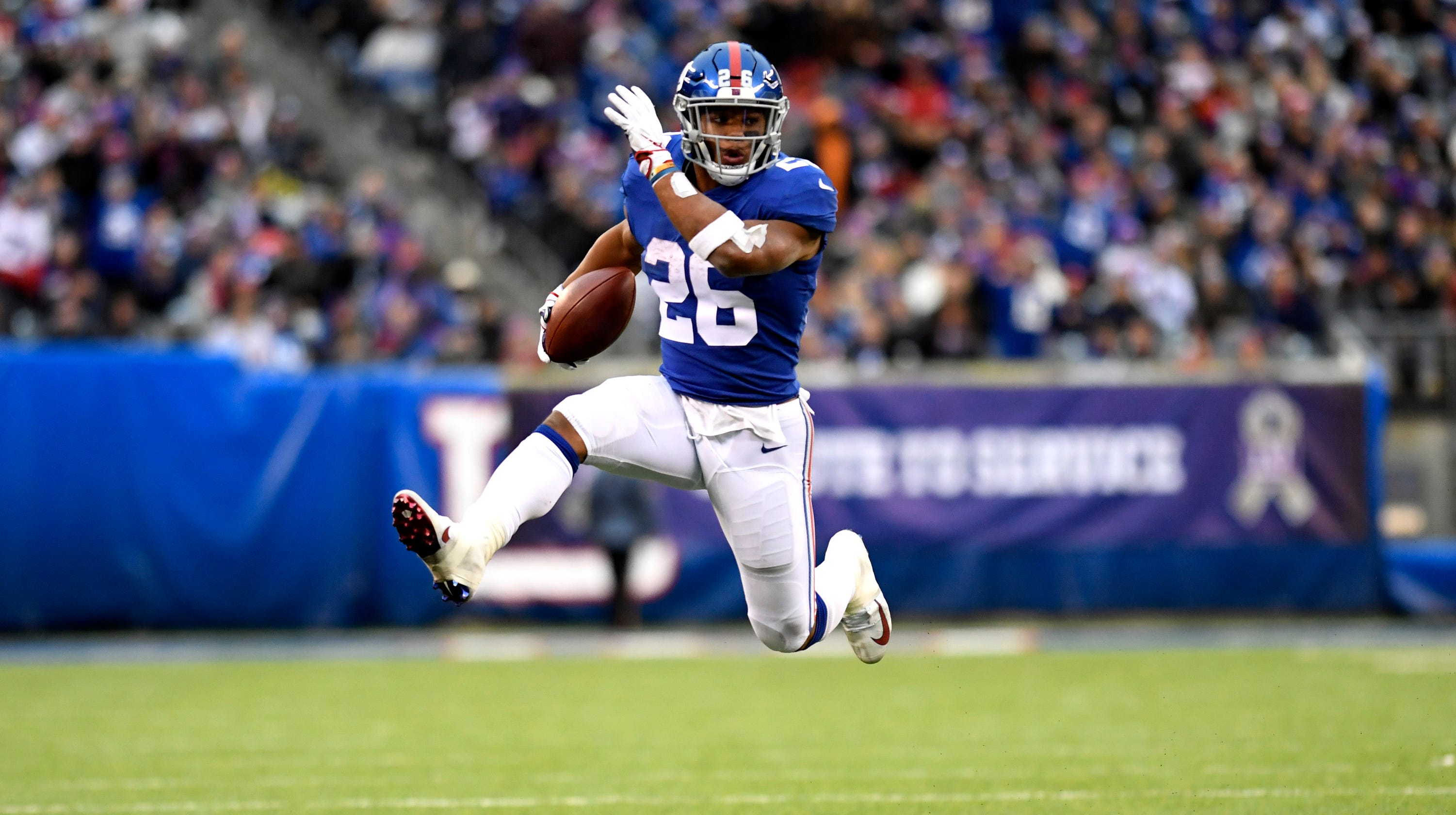 promo code 42c56 8d235 Saquon Barkley, NY Giants refused to get pushed around in ...