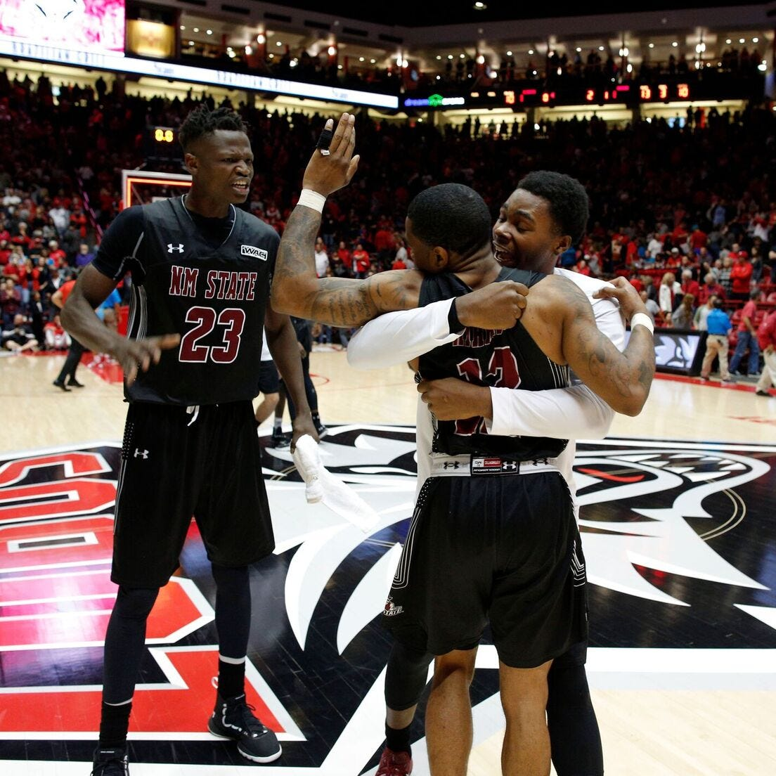 AJ Harris' career night leads New Mexico State over New Mexico