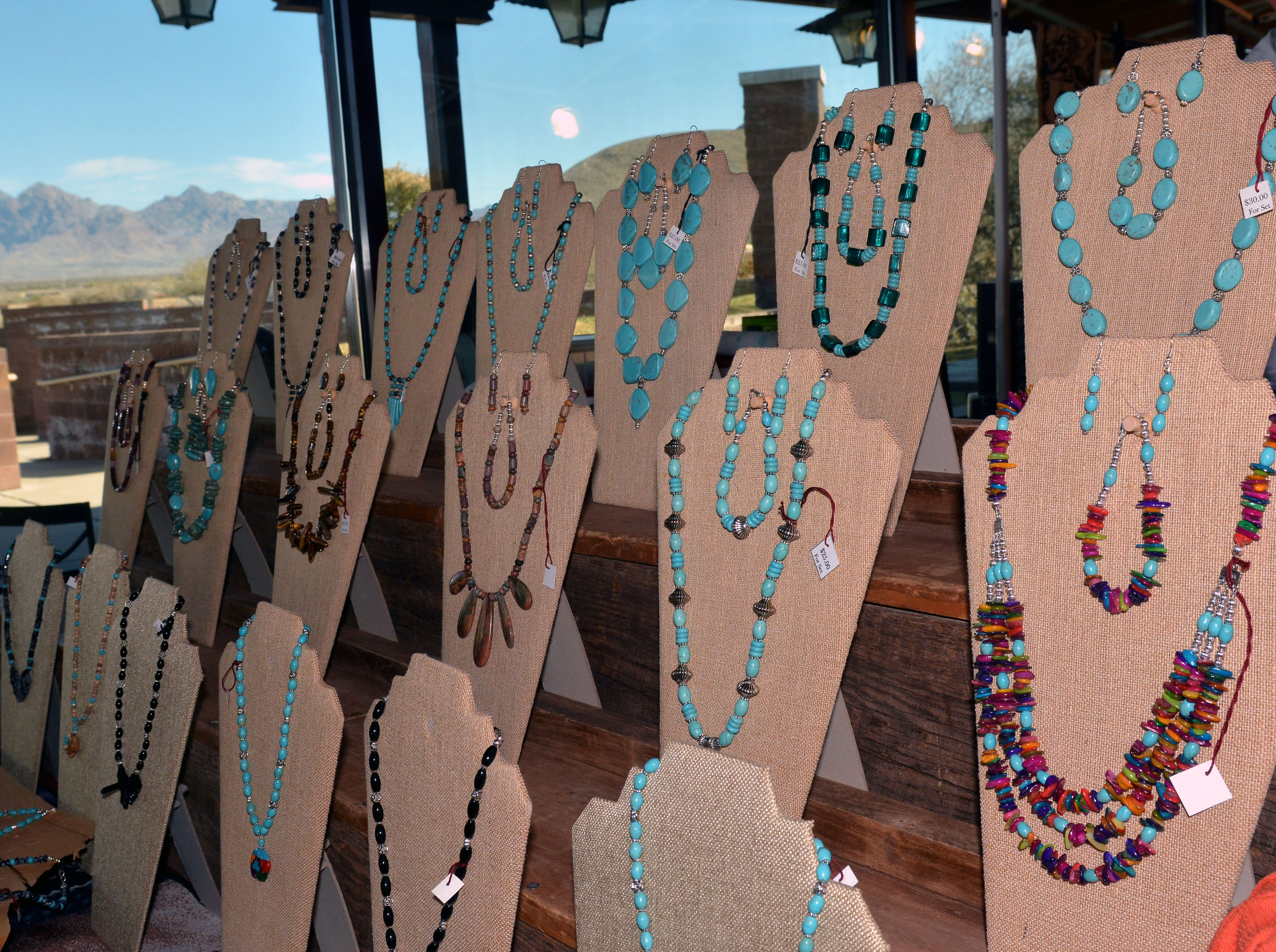 Plenty of local handmade turquoise jewelry is available from lots of local artists.  Photo taken 11/17/18.