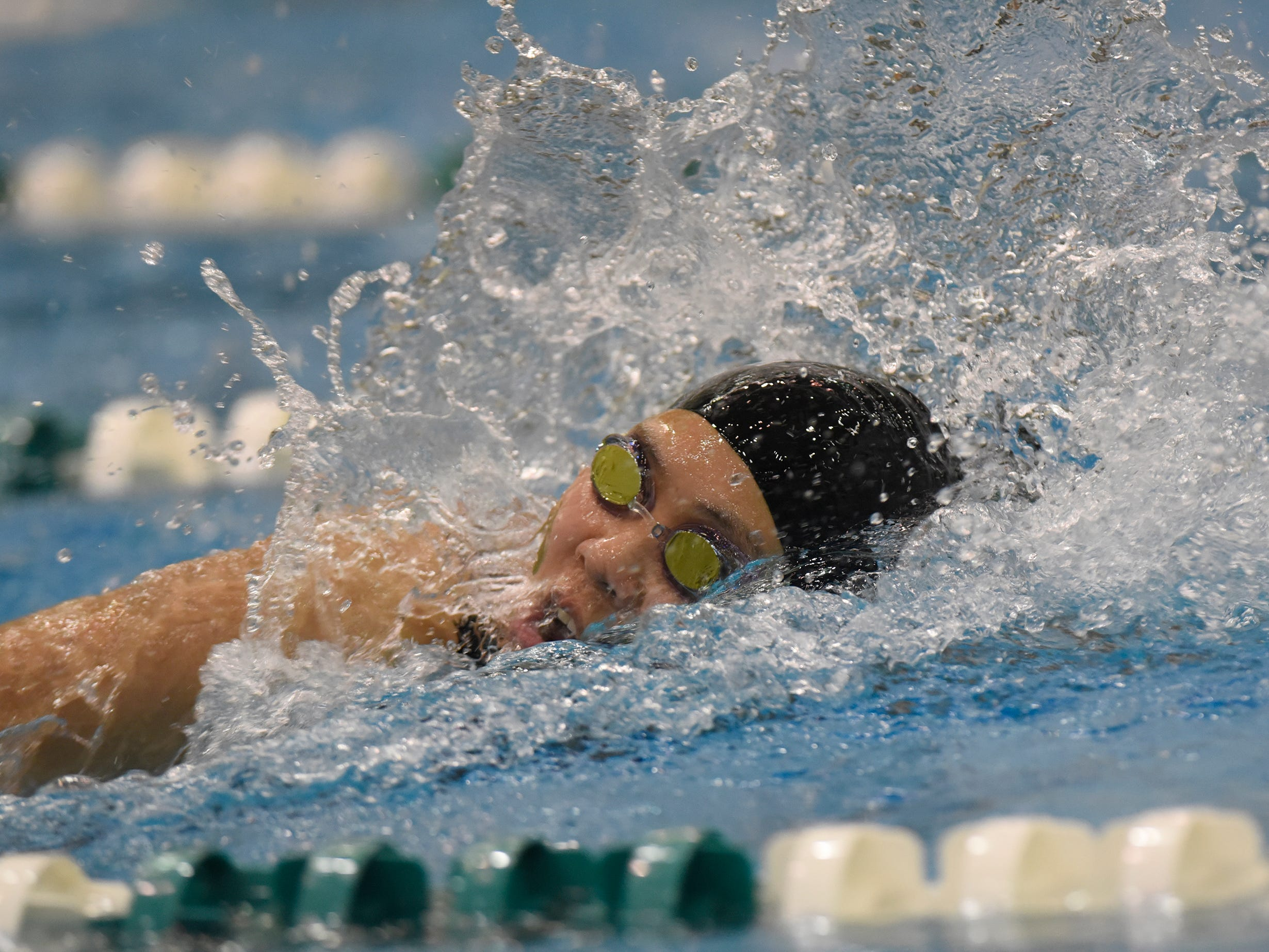 Novi in the 200 yard freestyle relay at the Division 1 girls swimming and diving championships held at Eastern Michigan University Nov. 17, 2018.