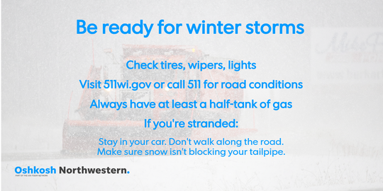 Be prepared for winter storms.