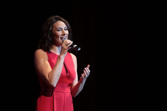 Laura Benanti sings at the Annenberg Theater at the Palm Springs Art Museum on Saturday, November 17, 2018 in Palm Springs.