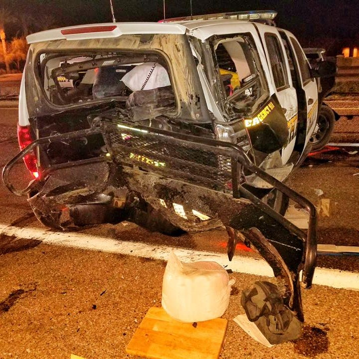 Impaired driver hits Pinal County deputy's patrol car