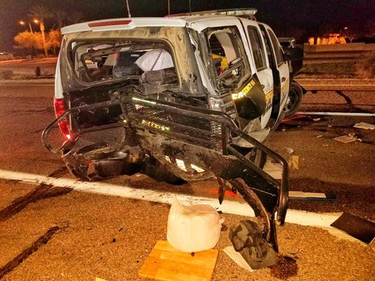 Pinal County deputy injured in crash