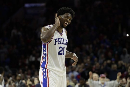 Joel Embiid is averaging career highs in points (27.7), rebounds (12.9) and minutes played per game (34.9) so far this season.
