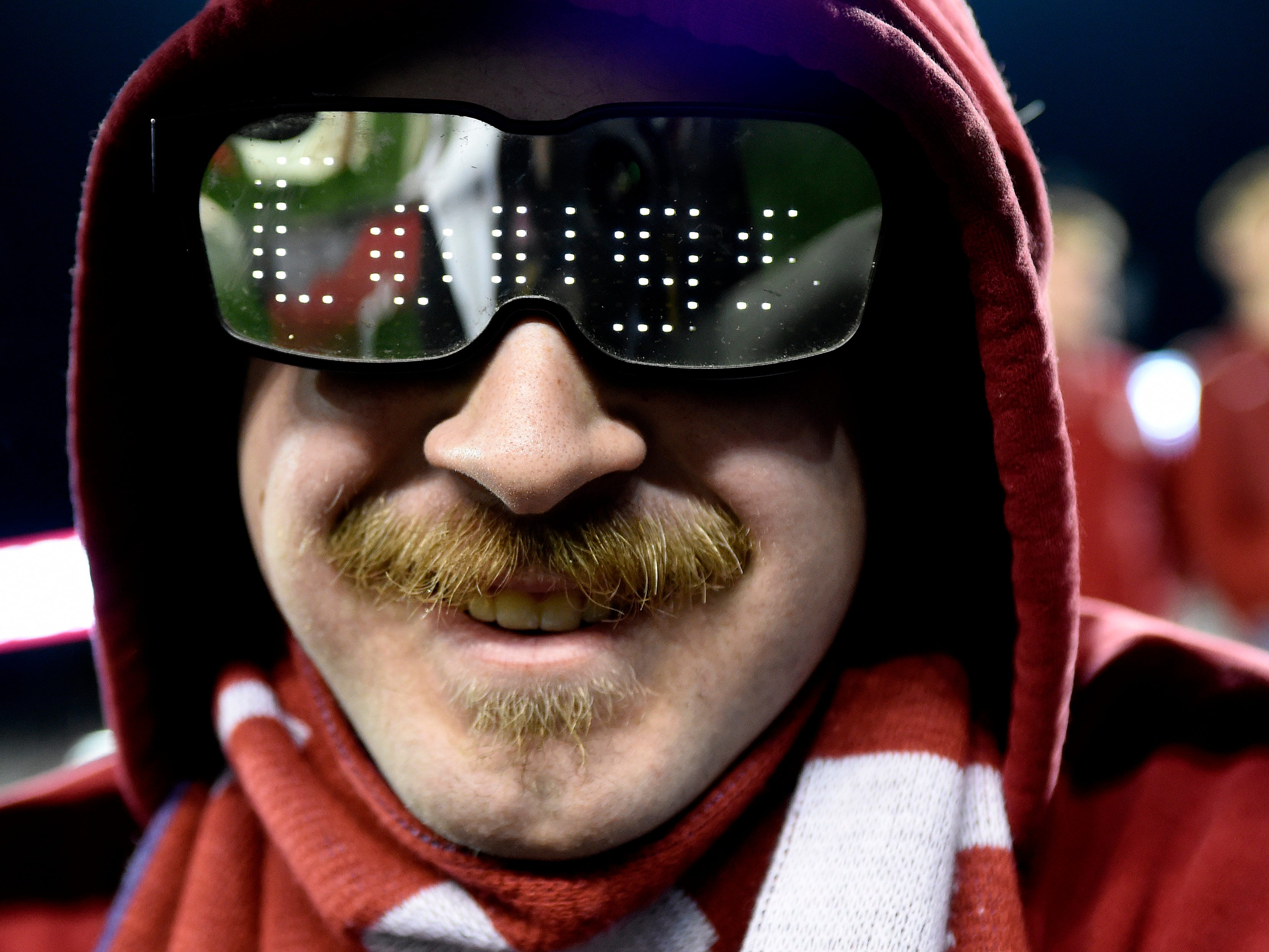 Nov 17, 2018; Pullman, WA, USA; Washington State Cougars fans looks on before a football game against the Arizona Wildcats at Martin Stadium. Mandatory Credit: James Snook-USA TODAY Sports
