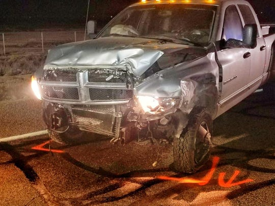 A Pinal County sheriff's deputy was injured when an impaired motorist slammed his Dodge truck into the deputy's patrol vehicle on Nov. 17, 2018, in Casa Grande.